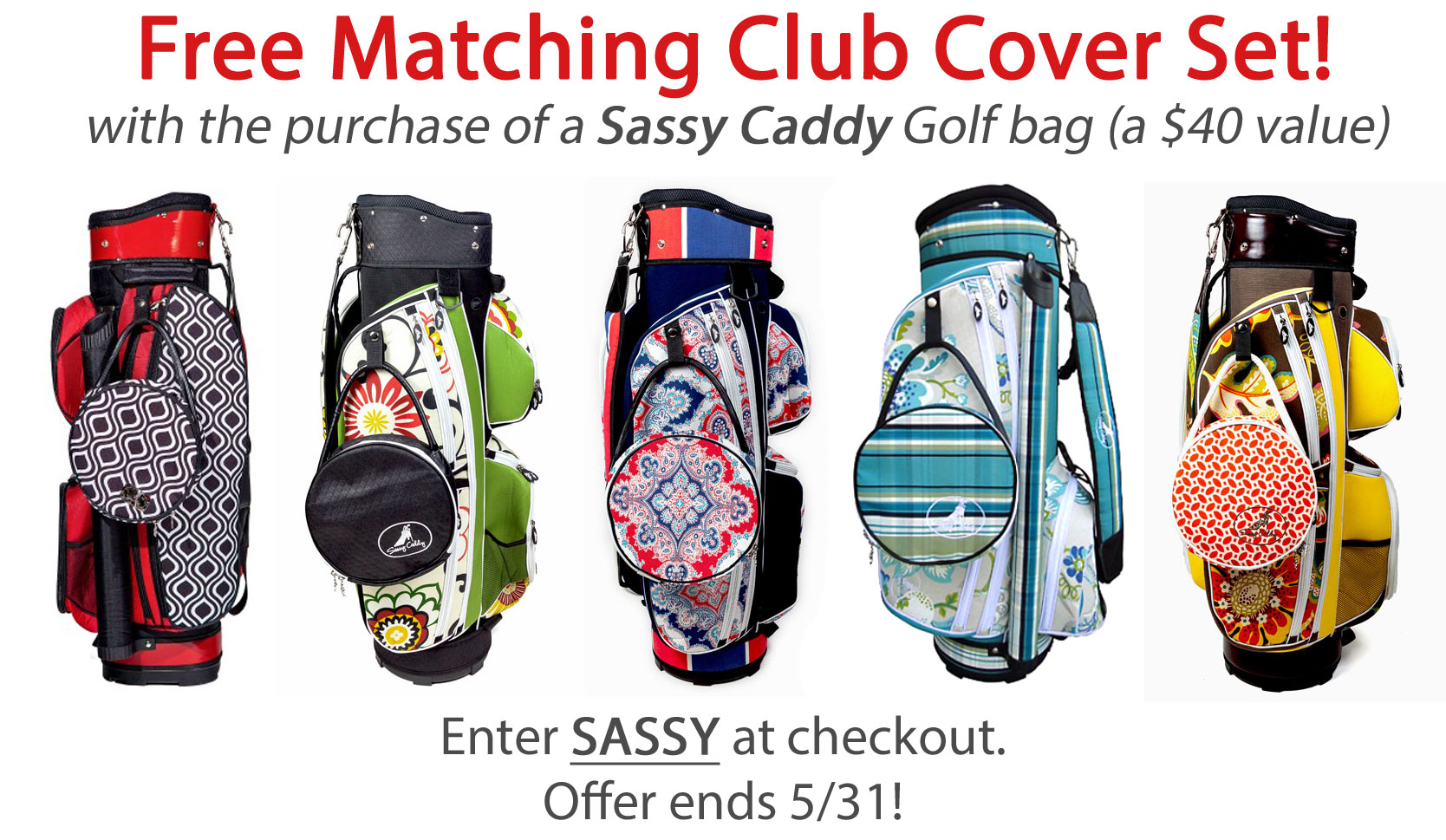 These Designer Golf Bags Are Made In The Usa And Come A Variety Of Colorful Fun Patterns